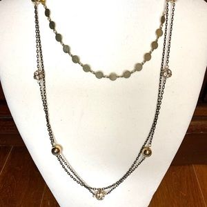 Gold multi tiered necklace